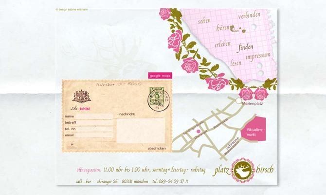 Website Café Platzhirsch